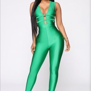 Sleeveless Green Jumpsuit